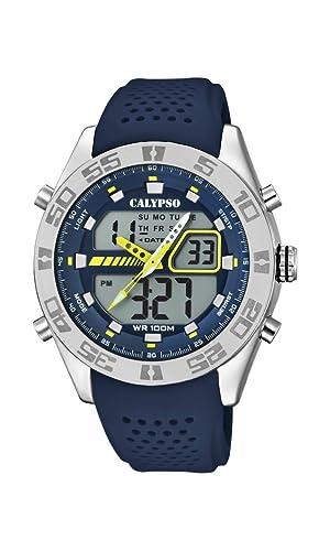 Calypso Watches Reloj Analógico-Digital para Hombre de Cuarzo con Correa en Plástico K5774/3: Amazon.es: Relojes