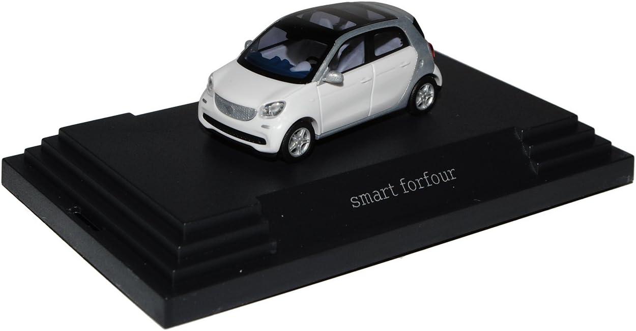 W 453 // 2014 49553-1:87 Smart Fortfour - silber-metallic // weiß Busch
