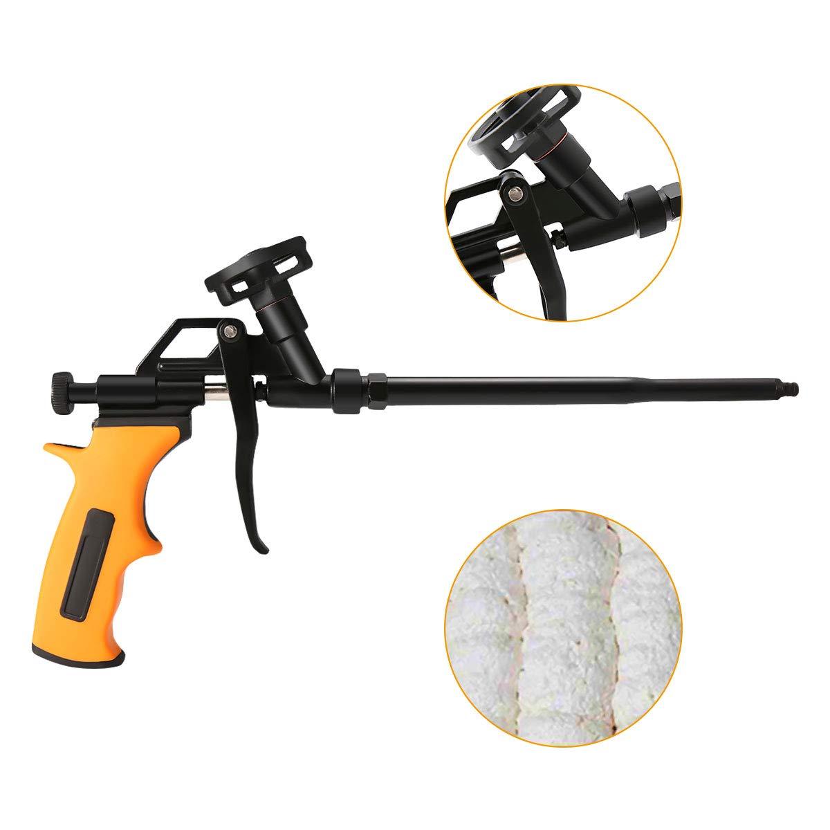 ARTISTORE Foam Gun, Pu Expanding Foaming Gun, Caulking Gun Metal Body Pro Heavy Duty Grade Expanding Spray Application Applicator for Caulking, Filling, Sealing, Home School Office Use