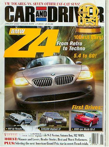 Car and Driver January 2003 BMW Z4 (Vol 48 No 7)