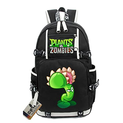 Siawasey Cute Plants Zombie Hot Game Bookbag Backpack Shoulder Bag School Bag