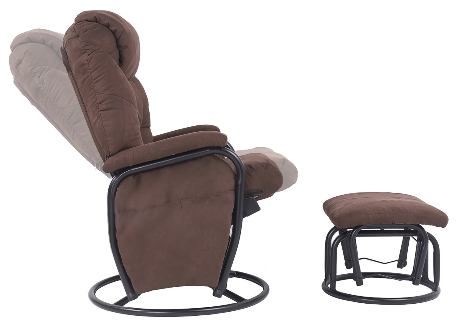 Amazon.com : Merax® Home Furniture Ergonomic Suede Fabric Swivel ...