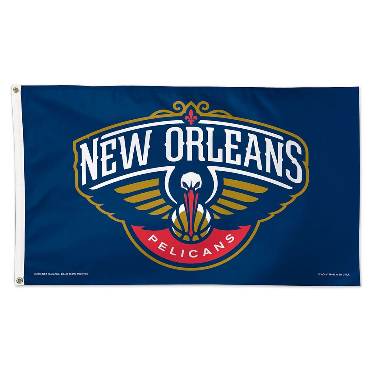 WinCraft NBA New Orleans Pelicans Flag,blue,3'x5' by WinCraft