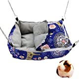 MuYaoPet Winter Warm Guinea Pig Rabbit Bed Sugar Glider Squirrel Hamster Hanging Cave Bed Snuggle Sack for Cage Accessories