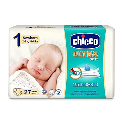 Chicco Chicco Ultra Soft - Pack 27 pañales ultra absorbentes, Talla ...