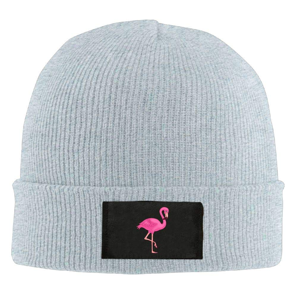 DLOAHJZH-Q Adult Unisex Pink Flamingo Winter Knitted Hat