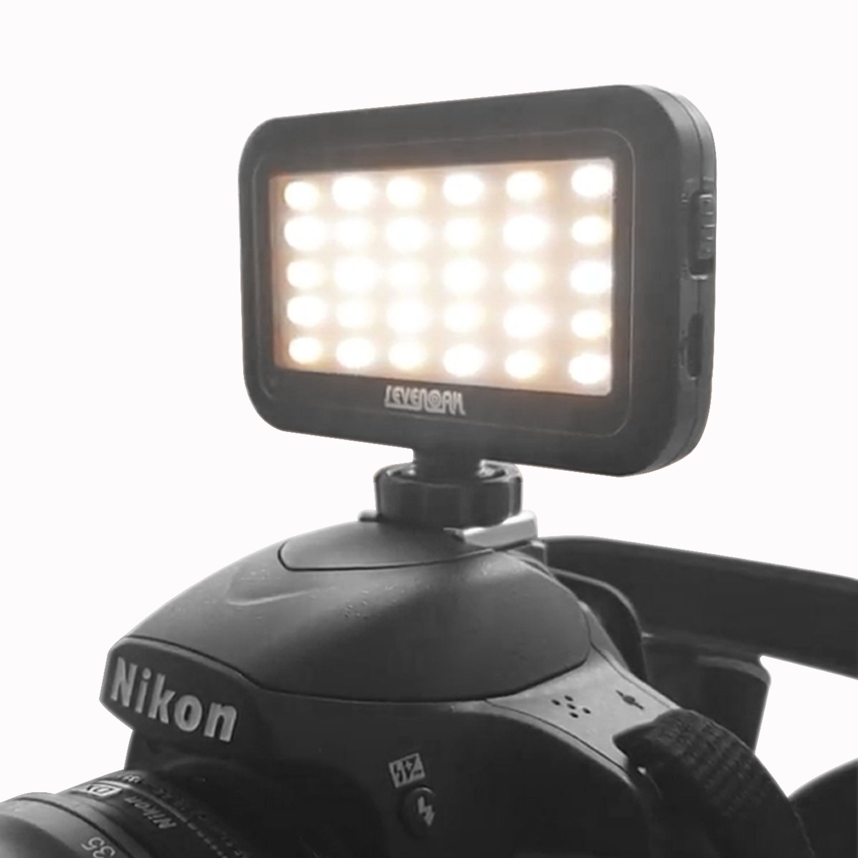 Sevenoak SK-PL30 Mini LED Dimmable Video Light Brightness Adjusting with Shoe Mount & USB Charge Port for DSLR Camera Camcorder GoPro Action IOS Android Smartphones