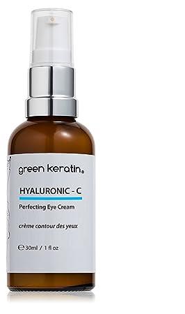 Green Keratin - Contorno de ojos Hyaluronic - C, con ácido hialurónico y vitamina C: Amazon.es: Belleza