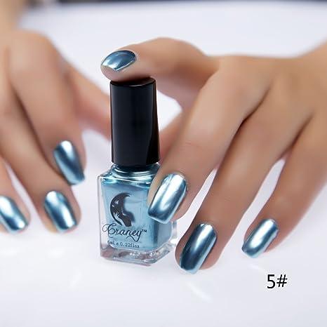 Esmalte de gel metálico con efecto espejo para uñas de ROPALIA. Pasa ...