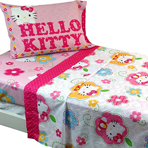 3pc Sanrio Hello Kitty Twin Bed Sheet Set Floral Boutique Bedding   Buy  Online In UAE. | Sanrio Products In The UAE   See Prices, Reviews And Free  Delivery ...