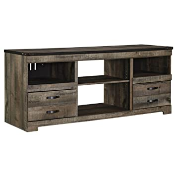 "Amazon.com: Ashley Trinell W446-68 63"" Large TV Stand with ..."