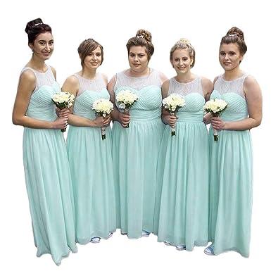Trust Linda Women Plus Size Bridesmaid Dress Illusion Neck ...