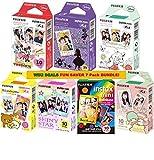 Fuji Instax Bundle Best Deals - Fujifilm Instax Mini Fuji Instant Film 7 Pack BUNDLE, Mickey, Pooh, Alice, Rilakkuma, Little Twin Stars, Shiny Star, Rainbow : 10 sheets of Each for 70 Sheets