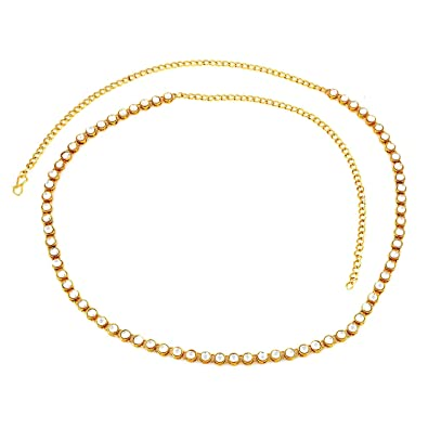 7df5555d947 Buy Amaal Traditional Jewellery Gold Kundan Saree Waist Belly Chain/Kamarbandh  Kamarband for Women Girls -Belt-01 Online at Low Prices in India | Amazon  ...