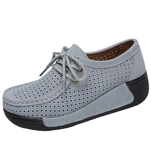 Zapatillas de Deportivos de Running Respirable Mocasines, Logobeing Zapatos de Deporte de Ocio Planas y Transpirables con Cabeza Redonda Sacudir: Amazon.es: ...