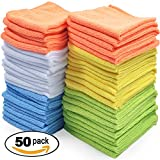 #6: Best Microfiber Cleaning Cloth, Pack of 50