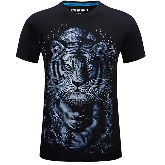 Manga Camiseta Cortacamiseta De Hombres Los Interiorestampado YIyv67bfg