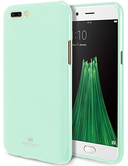 new arrival d213e db5a8 GOOSPERY Marlang Marlang Oppo R11 Plus Case - Mint Green, Free Screen  Protector [Slim Fit] TPU Case [Flexible] Pearl Jelly [Protection] Bumper  Cover ...