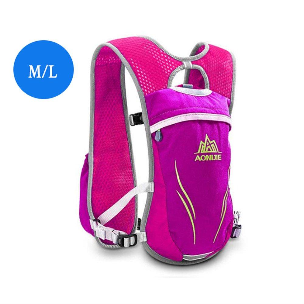 AONIJIEレディースメンズRunningベストパックアウトドアマラソンハイキング水和バックパック軽量スポーツバッグ  M/L-Rose B073B1L6ZW