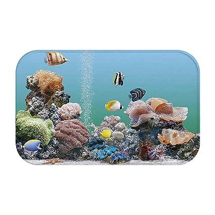 Amazon Com Janninse Orange Black Striped Fish Group Purple Coral