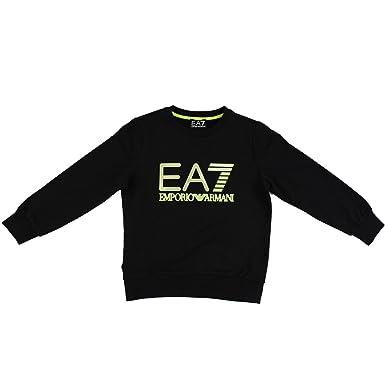 4da3cb859161 EA7 Armani Boys Navy Crew Neck Logo Sweatshirt  Amazon.co.uk  Clothing