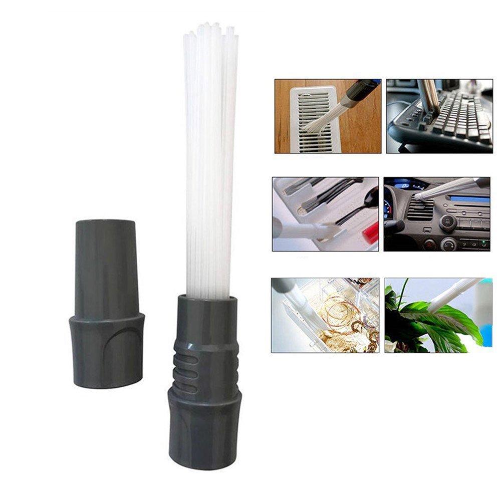 Acquisto Vetrineinrete® Testina per aspirapolvere universale beccuccio dust daddy con 30 tubi flessibili spazzola per pulizia in tastiere pc cassetti e auto G19 Prezzo offerta