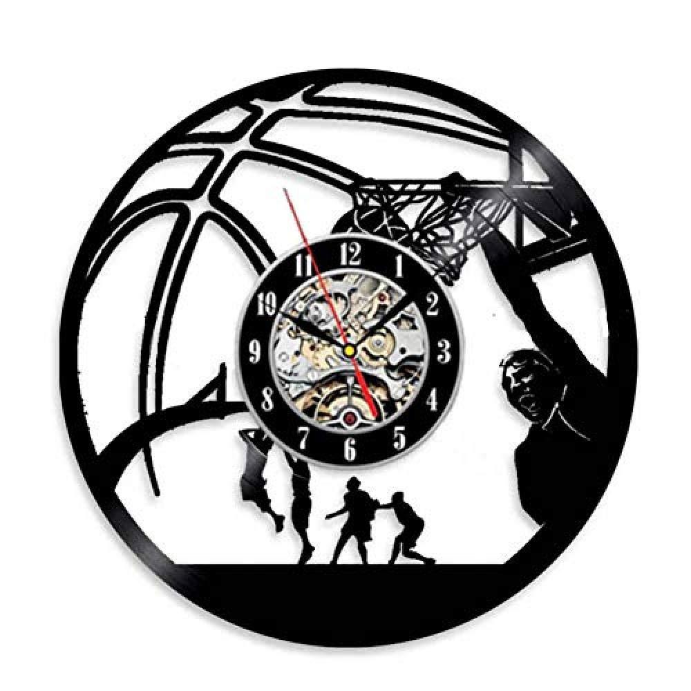 TPFEI Reloj de Pared de Baloncesto Reloj de Pared con Registro de ...