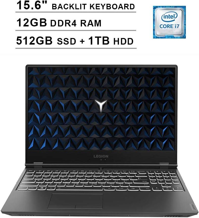 2020 Lenovo Legion Y540 15.6 Inch FHD 1080P Gaming Laptop (Intel 6-Core i7-9750H up to 4.5GHz, NVIDIA GeForce GTX 1650 4GB, 12GB DDR4 RAM, 512GB SSD (Boot) + 1TB HDD, Backlit Keyboard, Windows 10)