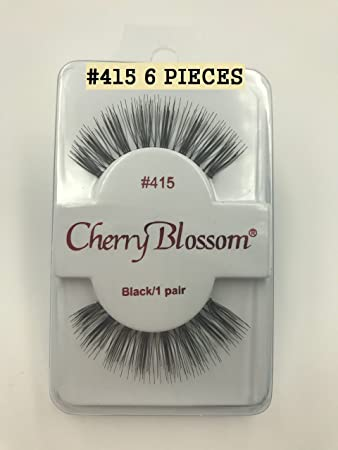 dec3b8bdebc Amazon.com : Cherry Blossom Fake Eyelashes Style #415 (6 PIECES) : Beauty