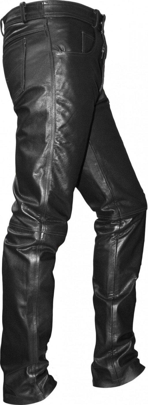 German Wear Lederhose lederjeans bikerjeans jeans hose aus Bü ffelleder Schwarz, Grö ß e:58 German Wear GmbH GW870 Black