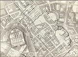 Historic Map | TAV VIII .A Pianta topografica della parte media di Roma antica 1847 | Historic Antique Vintage Map Reprint