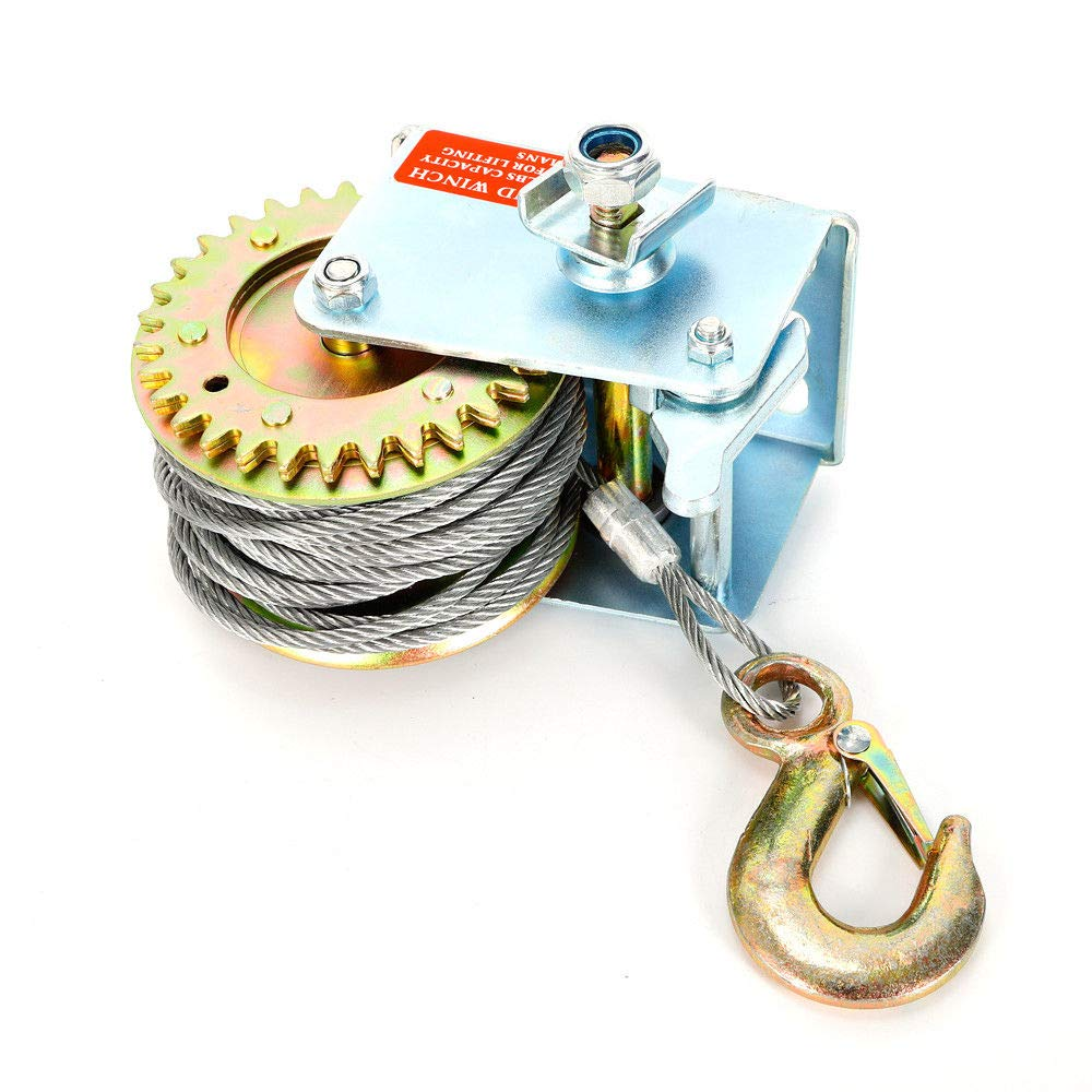 Hand winch 8m 600kg hoist rope winch hand winch with wire rope
