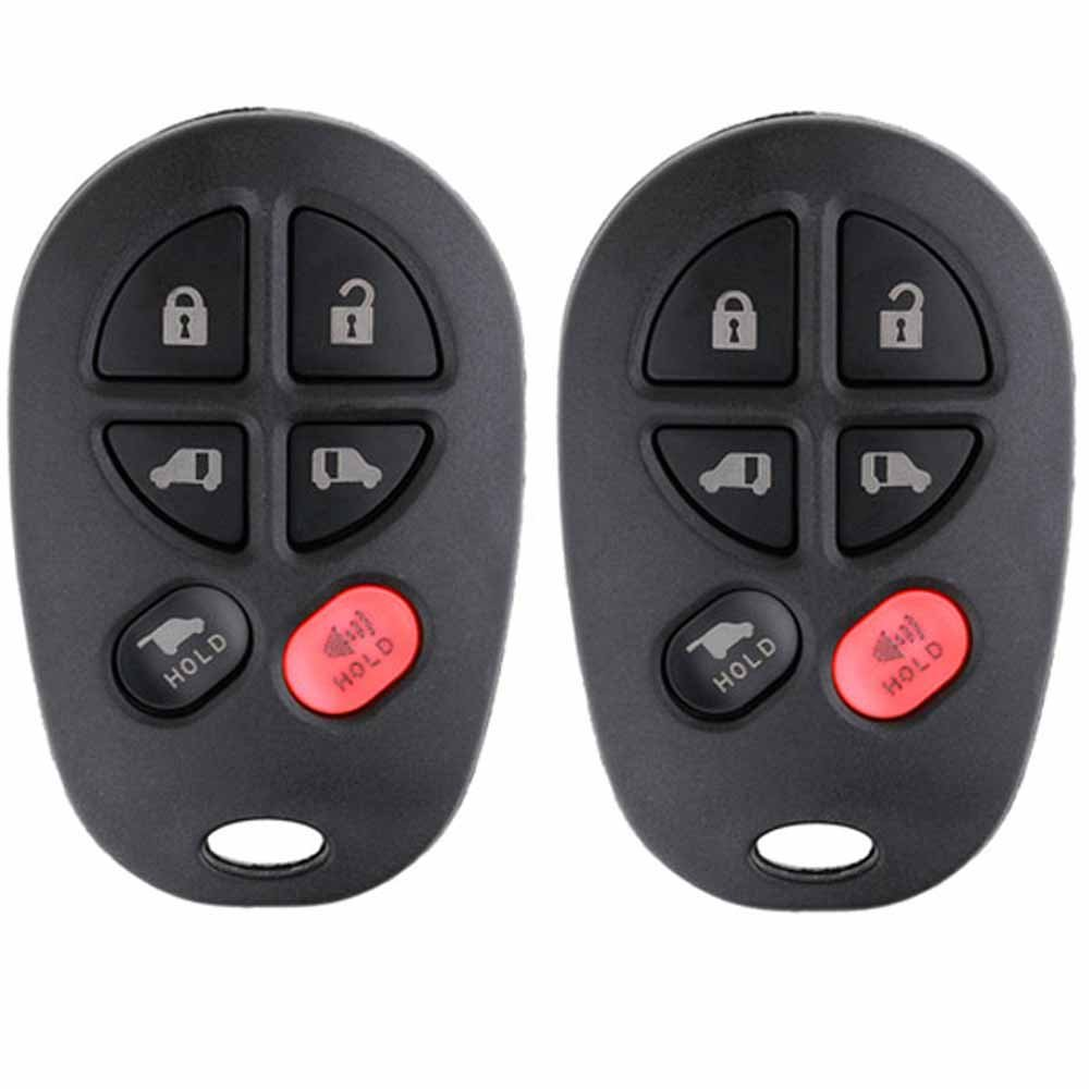 Pack of 2 KeylessOption Keyless Entry Remote Control Mini Van Key Fob Replacement for GQ43VT20T LYSB01DO8P1YO-ELECTRNCS