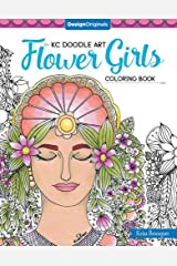 KC Doodle Flower Girls Coloring Collection (Kc Doodle Art)