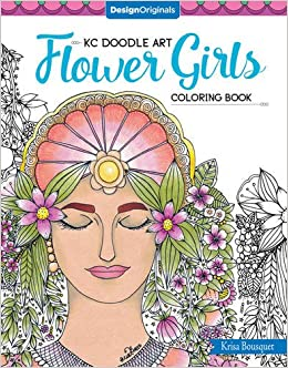 Kc Doodle Art Flower Girls Coloring Book: Amazon.co.uk ...