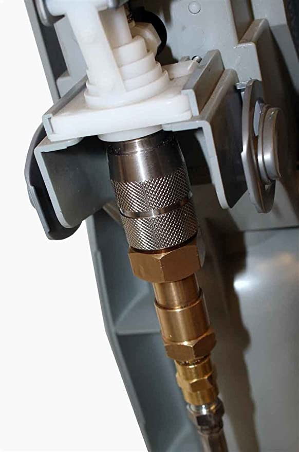 Externo CO2 tanque directa adaptador y manguera Kit para Soda eléctrica máquina de bebidas para depósito exterior directa adaptador y manguera Kit, ...