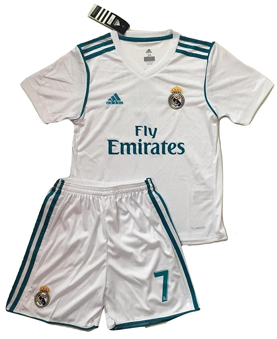 96501e615de VVBSoccerStore New  7 Ronaldo 2017 2018 Real Madrid Home Jersey   Shorts  for Kids Youths (9-10 Years Old)  Amazon.ca  Clothing   Accessories