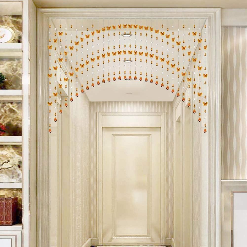 GuoWei-Cortinas de Cuentas Cristal Perlas para Puerta Salón Tabique Decoración Moderno Personalizable (Color : A, Size : 25 strands-100x65cm): Amazon.es: Hogar