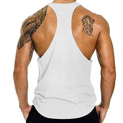 Huazi2 Mens American Flag Elastic Sleeveless Fitness Vest Blouse Tops