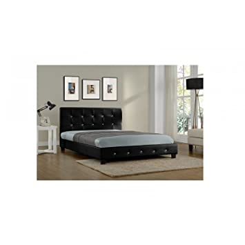 Mon Usine Discount The Suenio Black Faux Leather Bed Frame