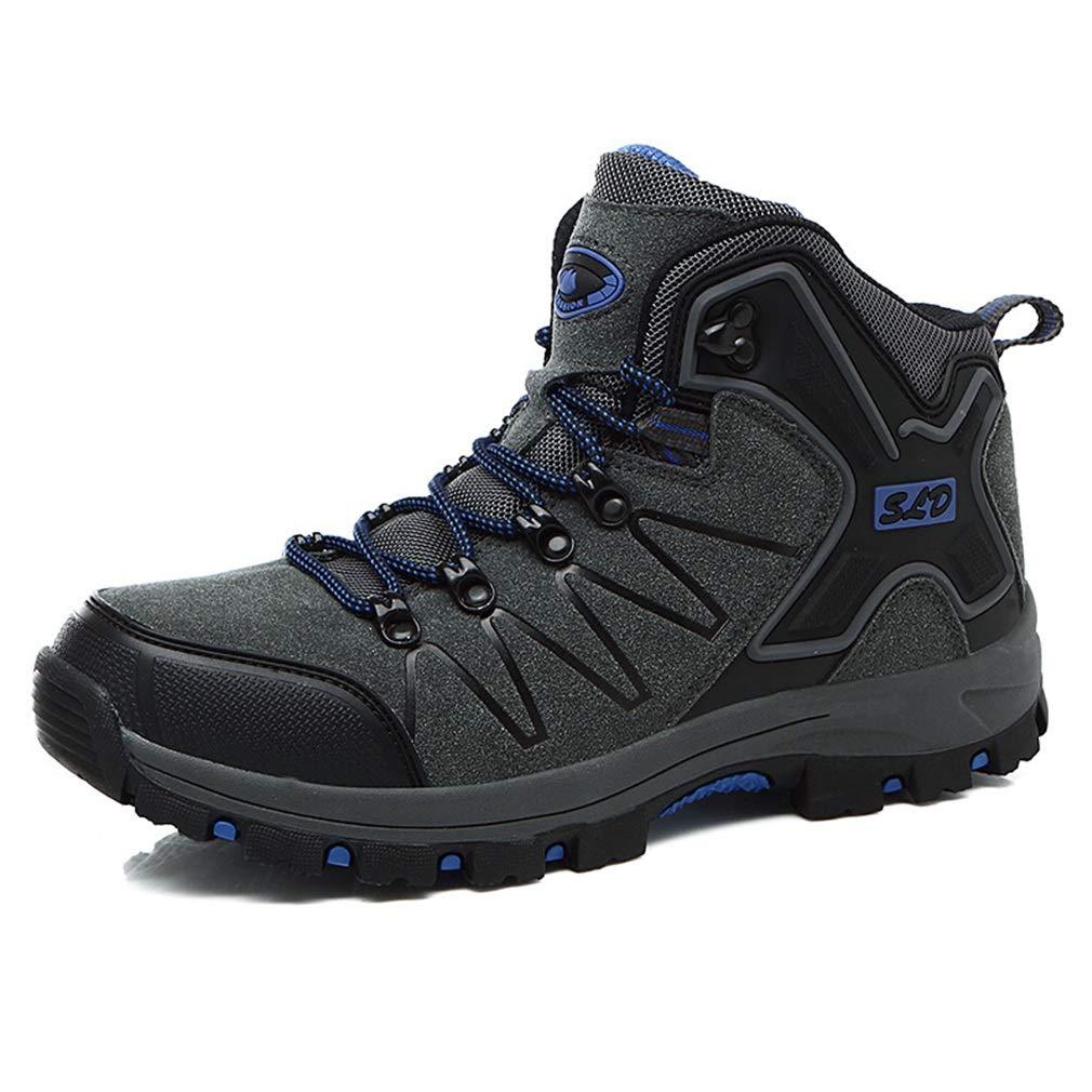 YAN Herrenschuhe High-Top Wanderschuhe Wanderschuhe Outdoor Sports Schuhe 2018 Herbst Winter New Blau, Grau, Grün (Farbe : Blau, Größe : 42)