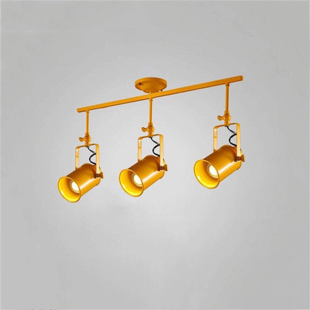 GUOYUN LED Retro Industrial Wind Track Tracking Beleuchtung Restaurant Bekleidung Store Persönlichkeit Kreative Farbe Kondensator Deckenleuchten