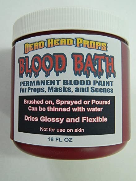 fake blood permanent and flexible for halloween props masks scenes