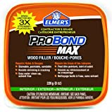 Elmer's ProBond Max Stainable Wood Filler, Interior/Exterior, 226G, 8-Ounce Tub (69022)