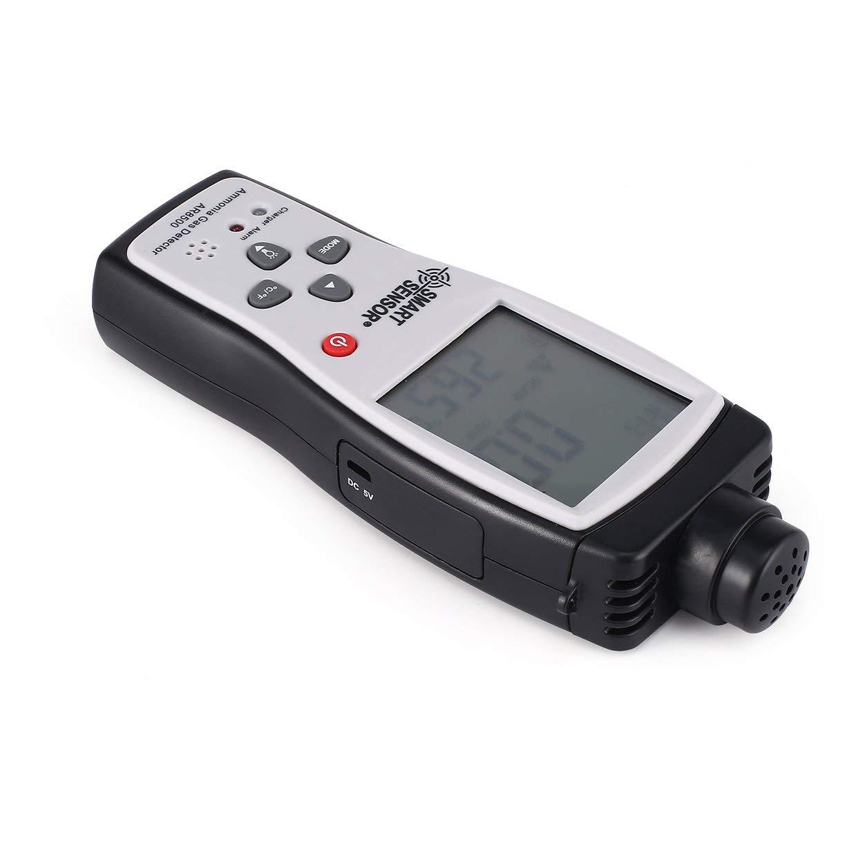 Monitor de Calidad del Aire Medidor de gas amoniaco Temperatura del detector del probador del analizador: Amazon.es: Coche y moto