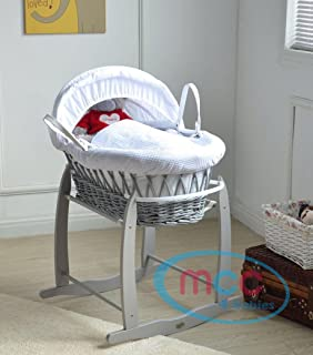 Nursery Furniture Careful Little Rocker With Folding Stand Cream Moses Basket Set Perfect For Newborn
