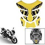Vheelocityin Gold Chrome Bike/ Motorcyckle Tankpad for Tank Protection and Style For Tvs Apache Rtr 160