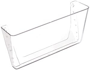 "Deflecto Wall Pocket, 1 Compartment, 13 x 4 x 7"", Clear (73201)"