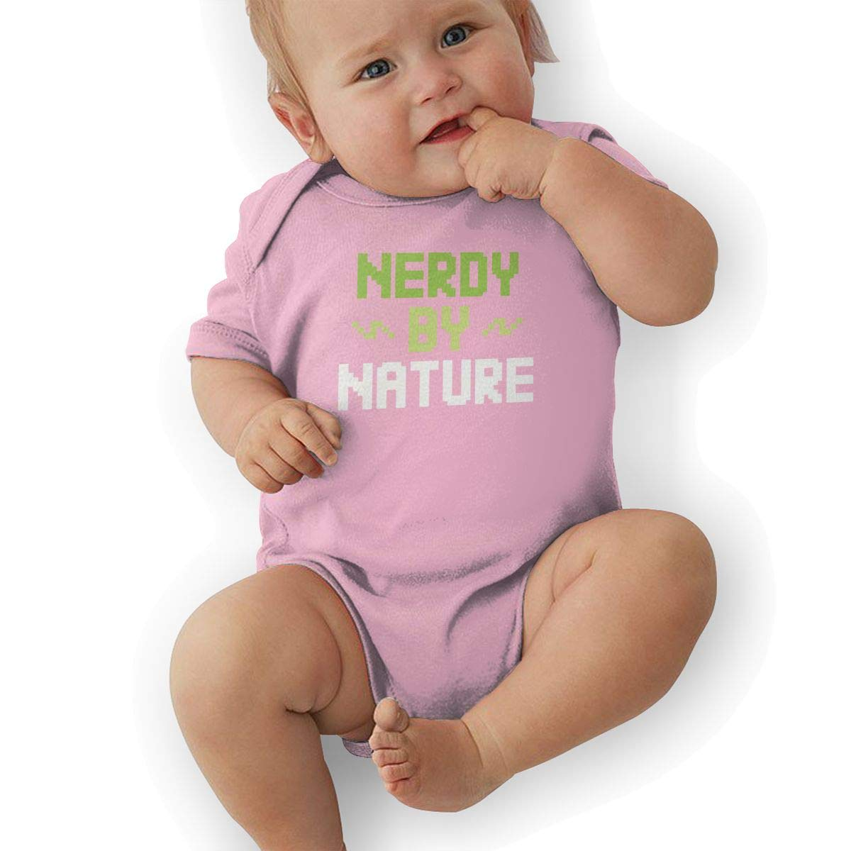 Nerdy by Nature Graphic Baby Rompers One Piece Jumpsuits Summer Outfits Clothes Pink