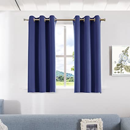 Beautiful Aquazolax Grommet Blackout Curtain Panels Set Solid Thermal Insulated  Blackout Curtains Drapes For Bedroom Windows,